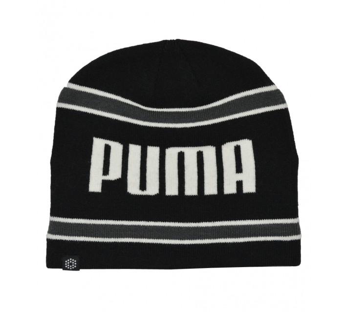 PUMA STRIPE PWR WARM BEANIE BLACK - AW16