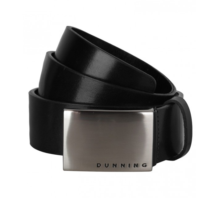 DUNNING LEATHER GOLF BELT BLACK - SS15