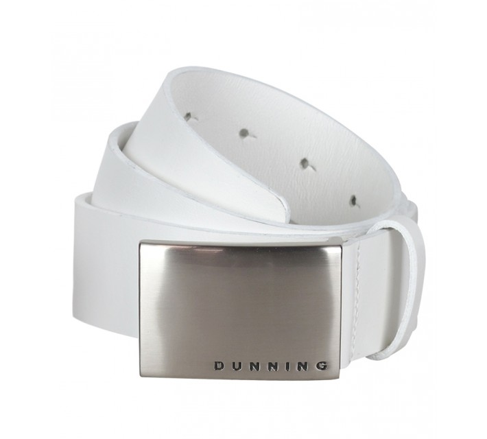 DUNNING LEATHER GOLF BELT WHITE - SS15