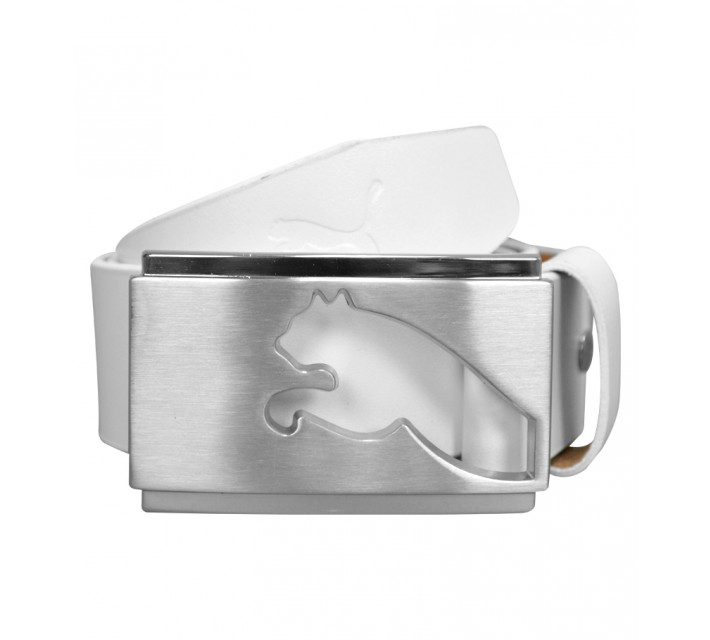 PUMA HIGHLIGHT FITTED BELT WHITE - AW15