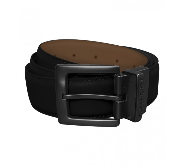 MATTE GREY REVERSIBLE BELT BLACK/BROWN - AW15