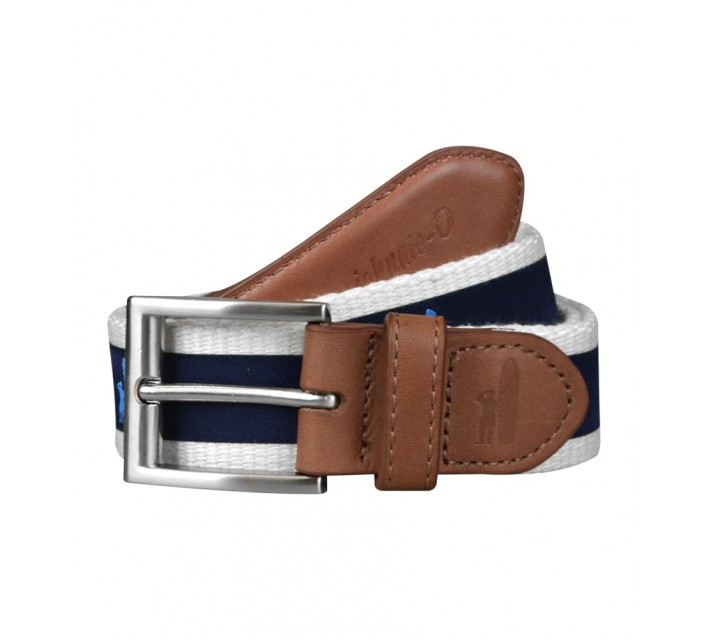 JOHNNIE-O SHORELINE BELT STONE/NAVY - SS16
