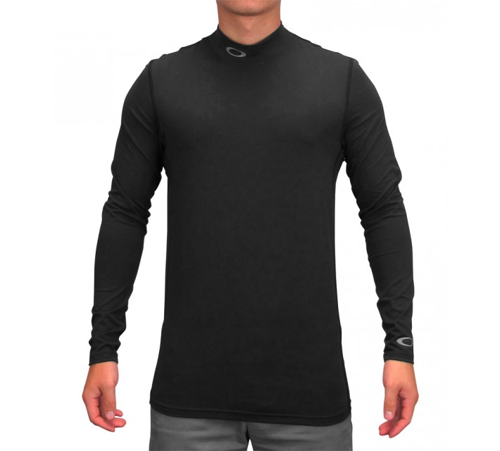OAKLEY BEMAN CREWNECK BASE LAYER JET BLACK - AW15