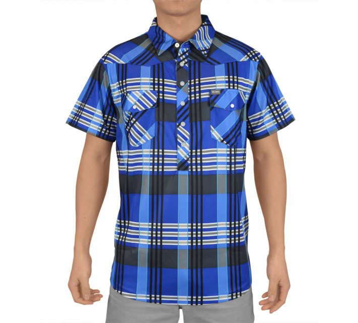 SLIGO BERKELEY PLAID POLO PATRIOT BLUE - SS15