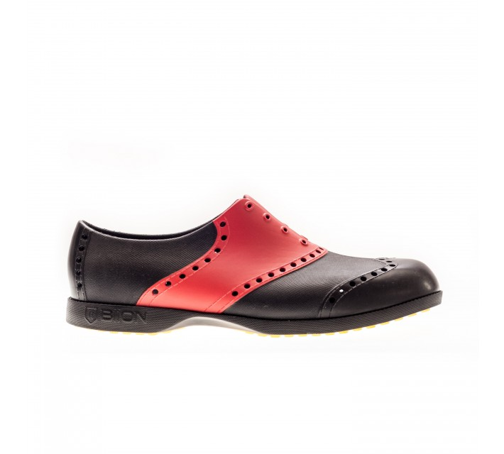 BIION FOOTWEAR THE SADDLES GOLF SHOE BLACK/CHERRY - AW16