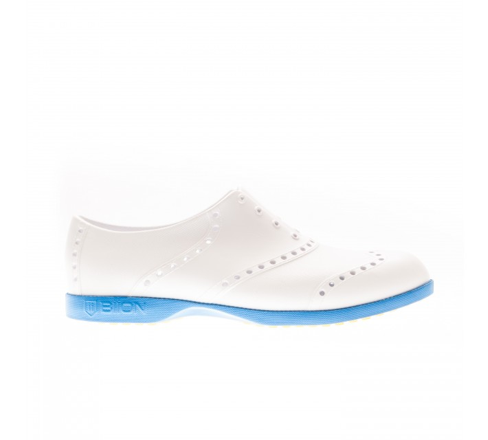 BIION THE OXFORD BRIGHTS GOLF SHOE WHITE/BLUE - AW16