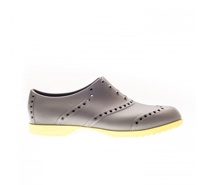 BIION THE OXFORD BRIGHTS GOLF SHOE GREY/NEON GREEN - AW16