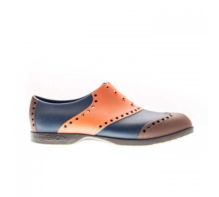 BIION WINGTIP GOLF SHOE ORANGE/BROWN/NAVY - SS16