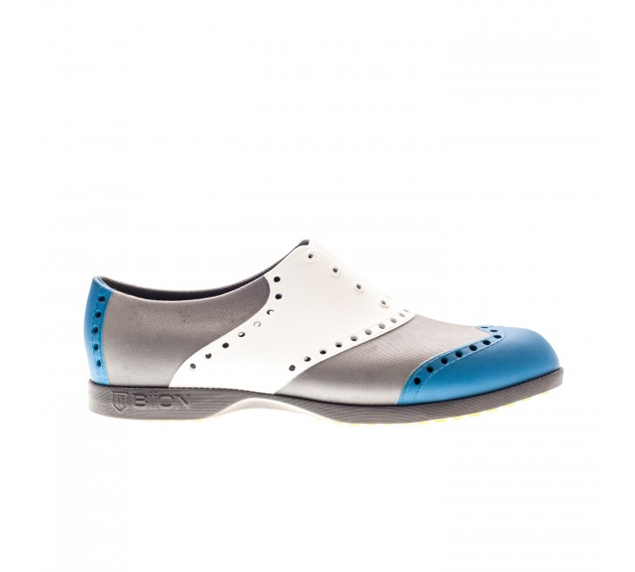 BIION WINGTIP GOLF SHOE BLUE/WHITE/SILVER - AW16