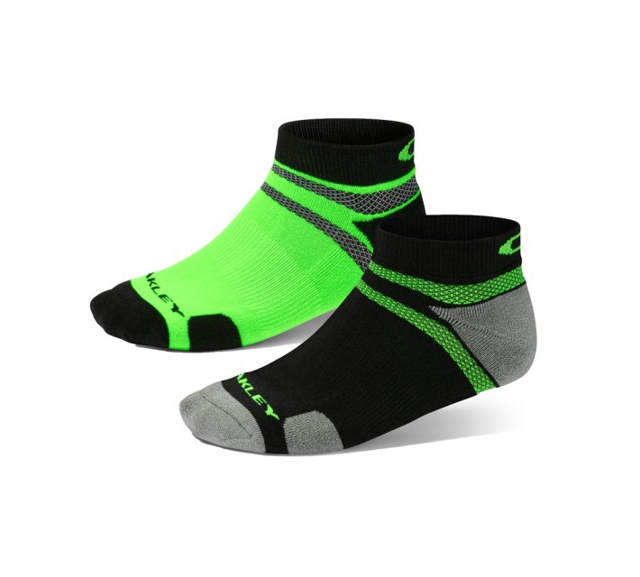 OAKLEY LOW-CUT 5-PACK SOCK LIME GREEN - AW15