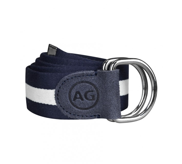 AG GREEN LABEL THE FLAGSHIP BELT NAVAL BLUE - SS16