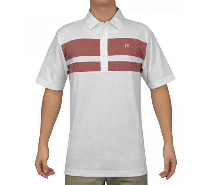TRAVISMATHEW GOLF SHIRT BLUTO WHITE - SS15