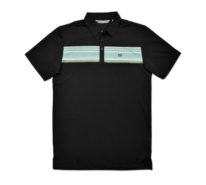 TRAVISMATHEW BOARDWALK GOLF SHIRT BLACK - SS16