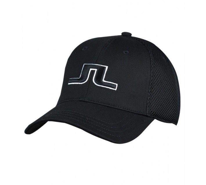 J. LINDEBERG BON FLEXI TWILL CAP BLACK - SS15