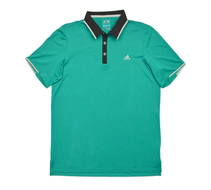 ADIDAS CLIMACOOL BRANDED PERFORMANCE POLO EQUIPMENT GREEN - SS16