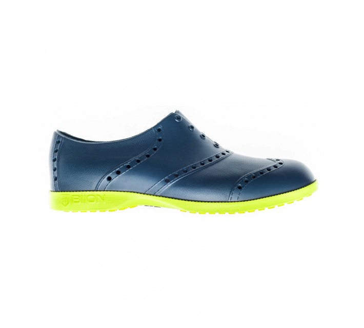 BIION THE OXFORD BRIGHTS GOLF SHOE NAVY/GREEN YELLOW - AW16