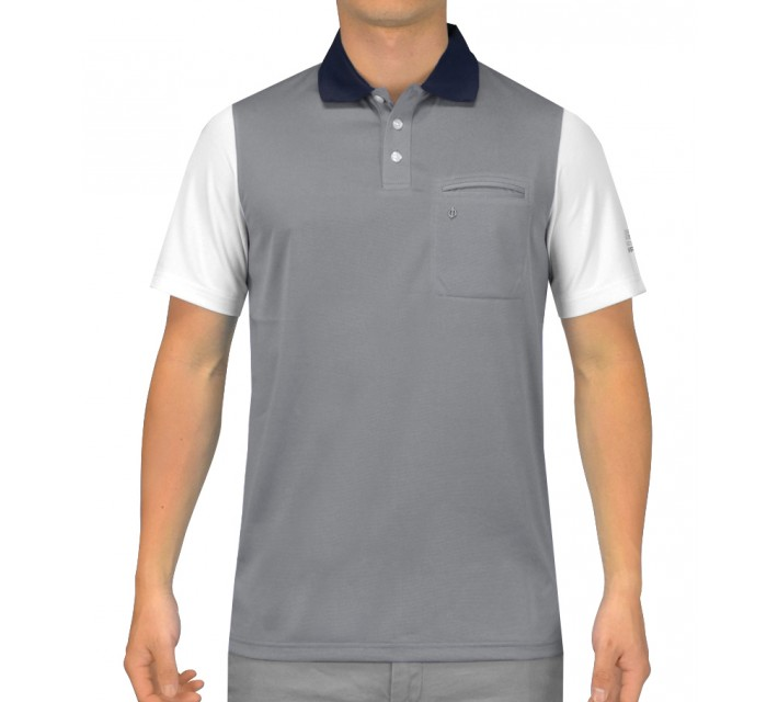 OSCAR JACOBSON BRODY GOLF SHIRT GREY - SS15