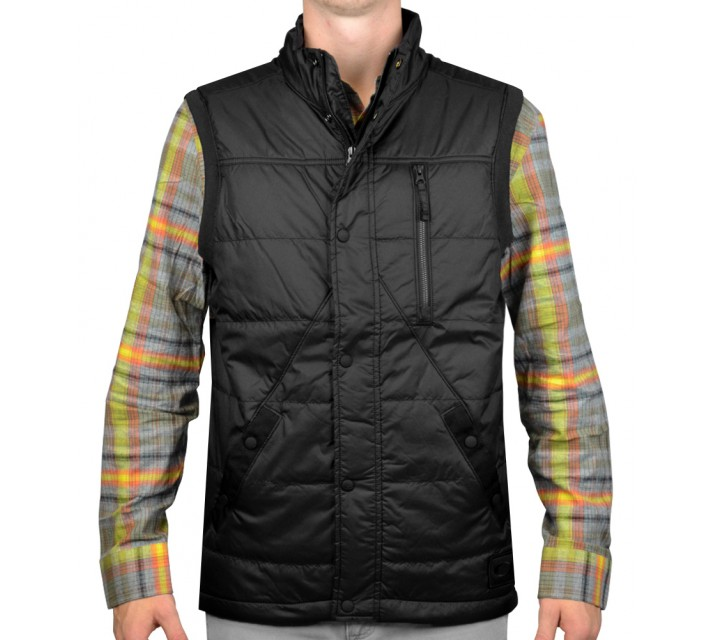 OAKLEY BROKEN ARROW INSULATED VEST JET BLACK - AW15