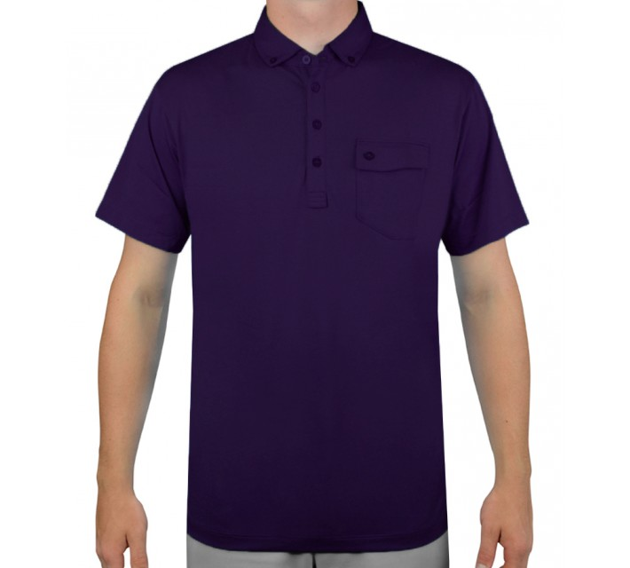 DEVEREUX BRUNNER GOLF POLO GOTHIC GRAPE - AW15