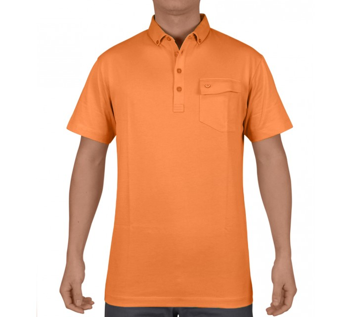 DEVEREUX BRUNNER JERSEY GOLF POLO APRICOT - SS15