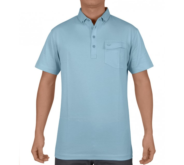 DEVEREUX BRUNNER JERSEY GOLF POLO PEBBLE - SS15