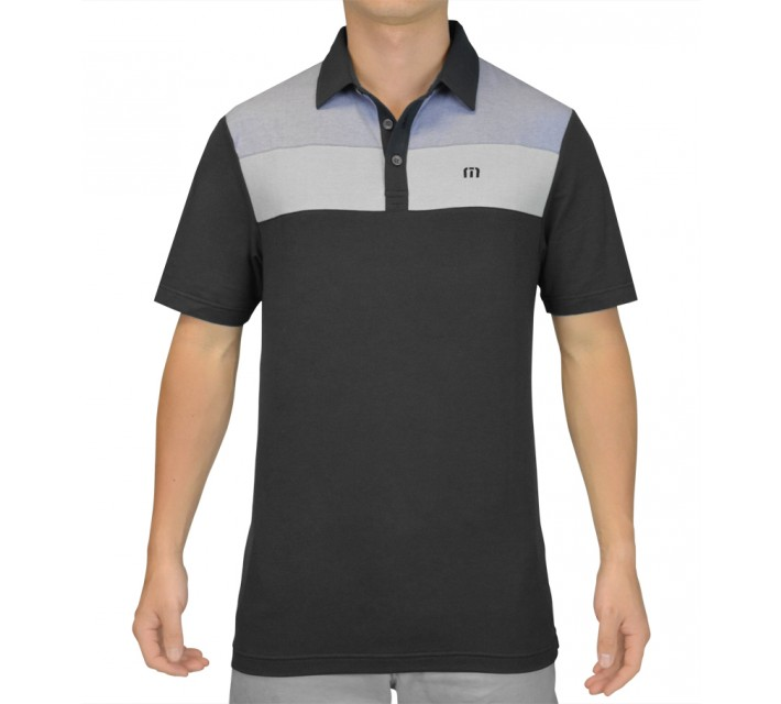 TRAVISMATHEW GOLF SHIRT BUELLER BLACK - SS15