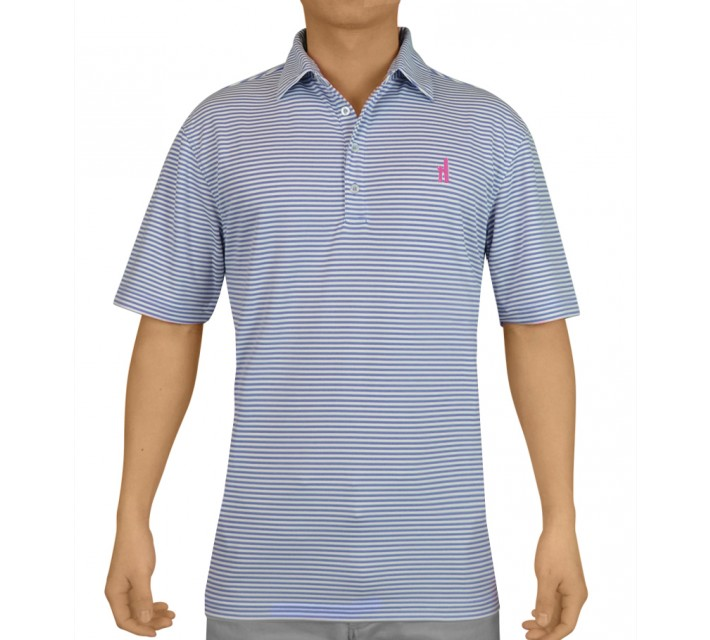 JOHNNIE-O BUNKER PREP-FORMANCE POLO VISTA BLUE - AW16