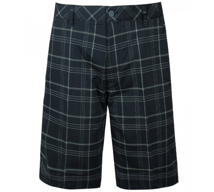 AUR PLAID FLAT FRONT SHORT BLACK