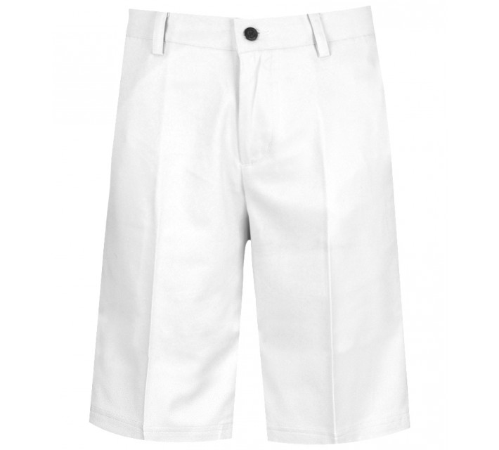 AUR TECH FLAT FRONT GOLF SHORT WHITE - AW15