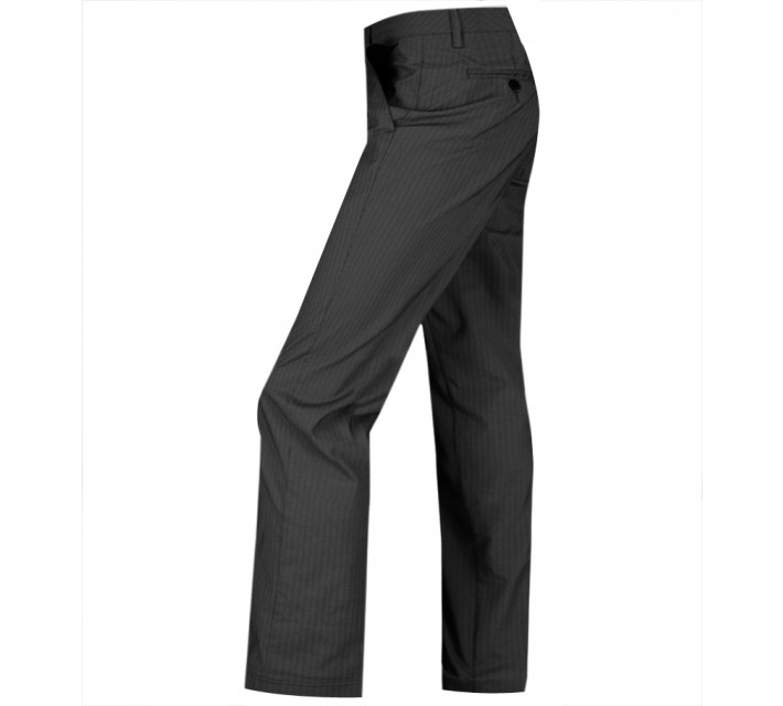 AUR STRETCH PINSTRIPE FLAT FRONT PANT BLACK - AW15