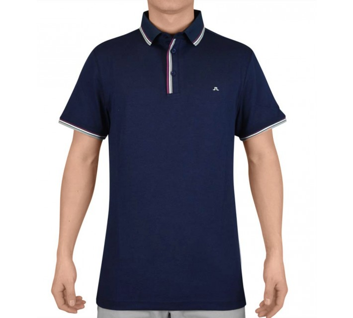 J. LINDEBERG CAIL TECH MESH JERSEY NAVY PURPLE - SS15