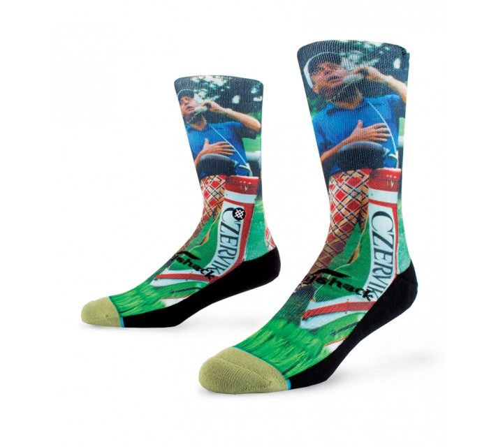 STANCE GOLF SOCKS CALL TIME GREEN - SS16