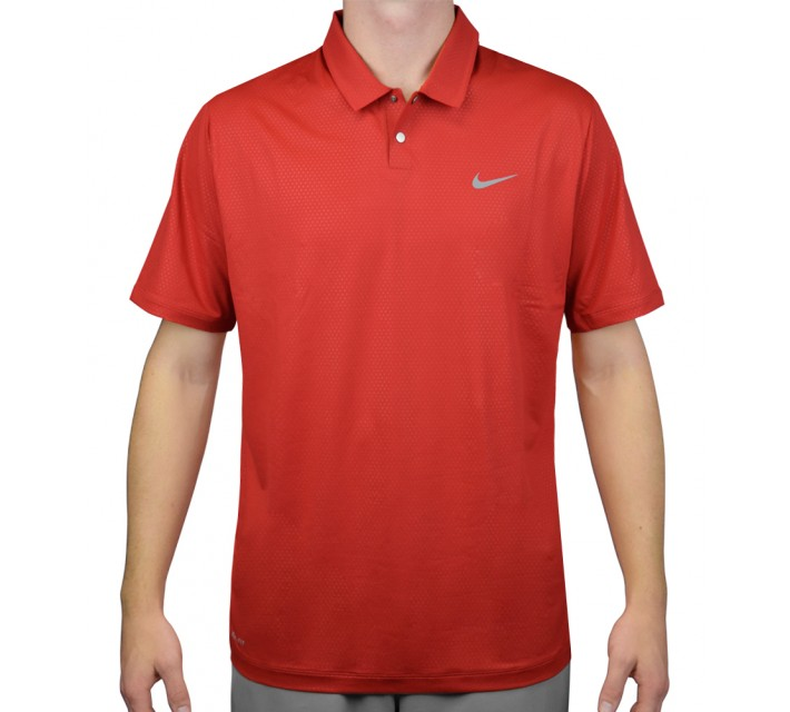 TIGER WOODS MOBILITY CAMO EMBOSS POLO UNIVERSITY RED - AW15 CLOSEOUT