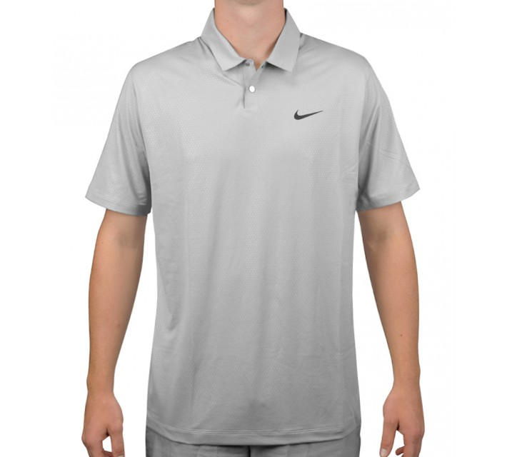 TIGER WOODS MOBILITY CAMO EMBOSS POLO WOLF GREY - AW15 CLOSEOUT