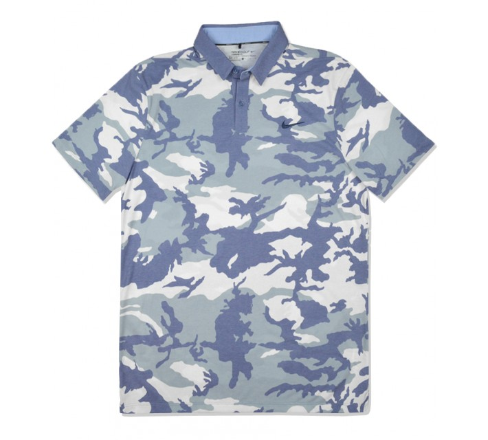 NIKE TRANSITION DRY CAMO POLO OCEAN FOG - SS16 CLOSEOUT