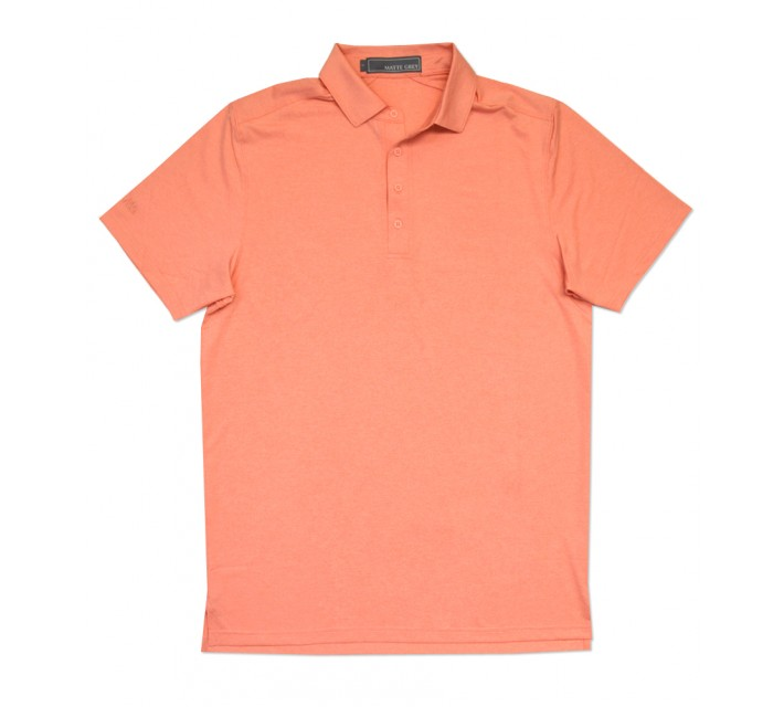 MATTE GREY CAPTAIN GOLF POLO PEACH HEATHER/GAINSBURO HEATHER - SS16