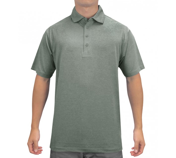 MATTE GREY CAPTAIN POLO PINYON GREEN HEATHER/GAINSBURO HEATHER - SS15