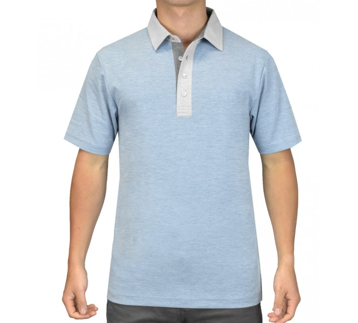 TRAVISMATHEW GOLF SHIRT CARL SPACKLER CELESTIAL - SS15