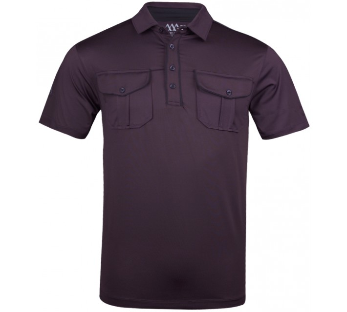 MATTE GREY CASTRO POLO WINE/BLACK - SU13