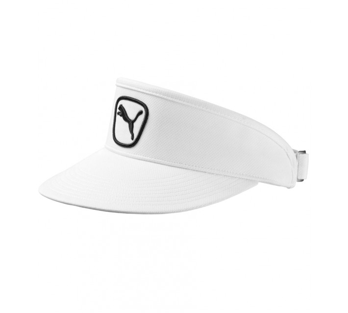 PUMA CAT PATCH 2.0 PERFORMANCE VISOR WHITE - SS16