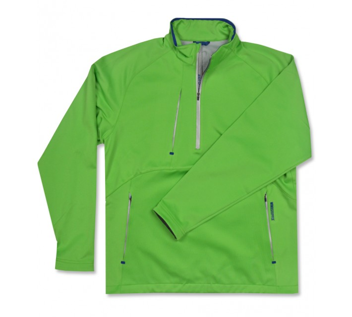 ZERO RESTRICTION CHAMBERS BAY 1/4 ZIP PULLOVER PIQUE GREEN/METALIC GREEN - AW16