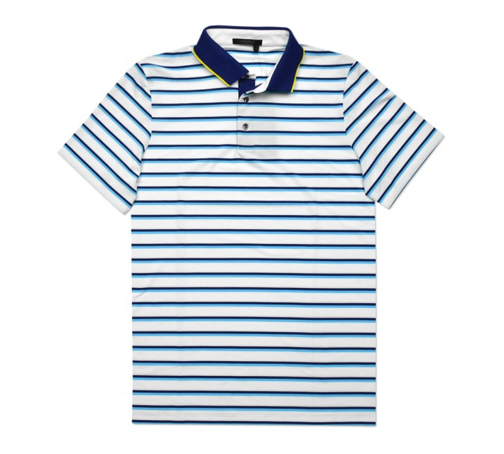 GREYSON CHAPPAQUA THREE COLOR STRIPE POLO ARCTIC/MACAW - SS16