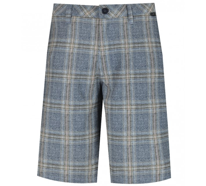 TRAVISMATHEW GOLF SHORTS CHARLES IRIS PLAID - SS15