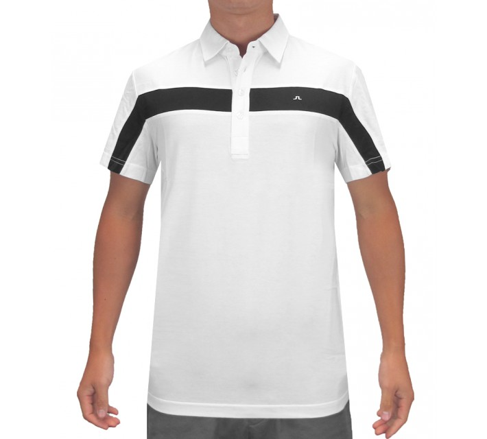 J. LINDEBERG CHRISS LUX BRIDGE JERSEY WHITE - SS16