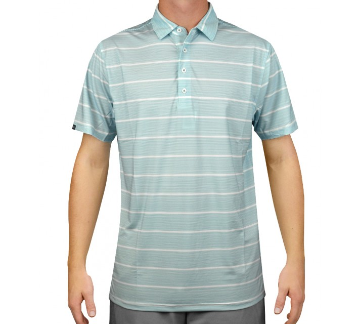 MATTE GREY CIRCUIT 2.0 GOLF POLO WHITE/TIDAL MIST - AW15