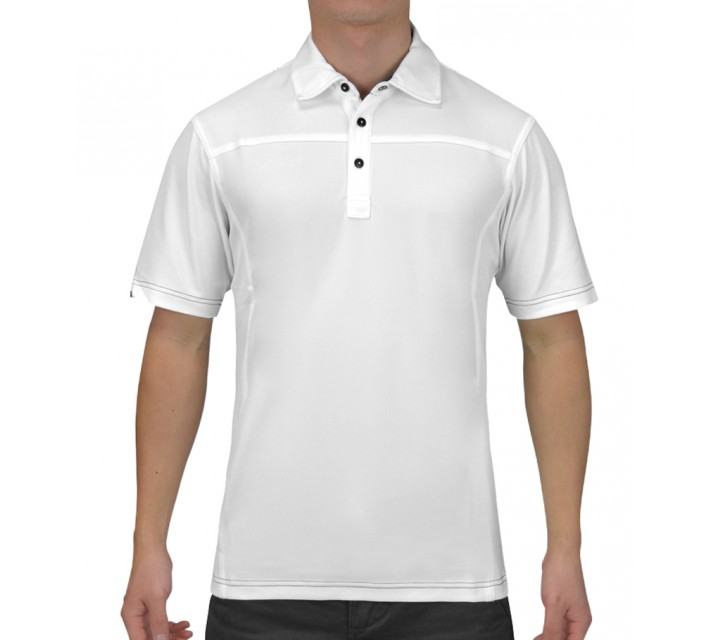 HOLLAS COATES GOLF SHIRT WHITE - SS15