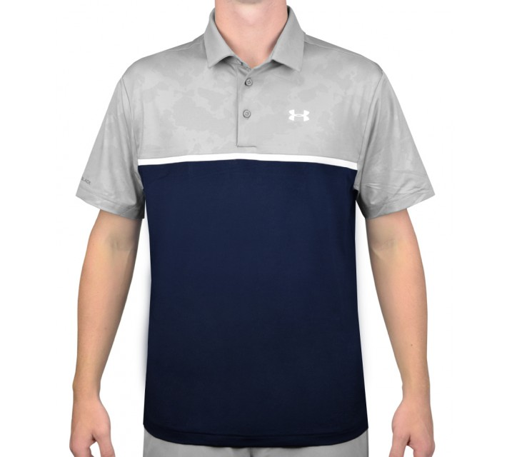 UNDER ARMOUR COLDBLACK ROVER GOLF POLO ACADEMY/STEEL - AW15