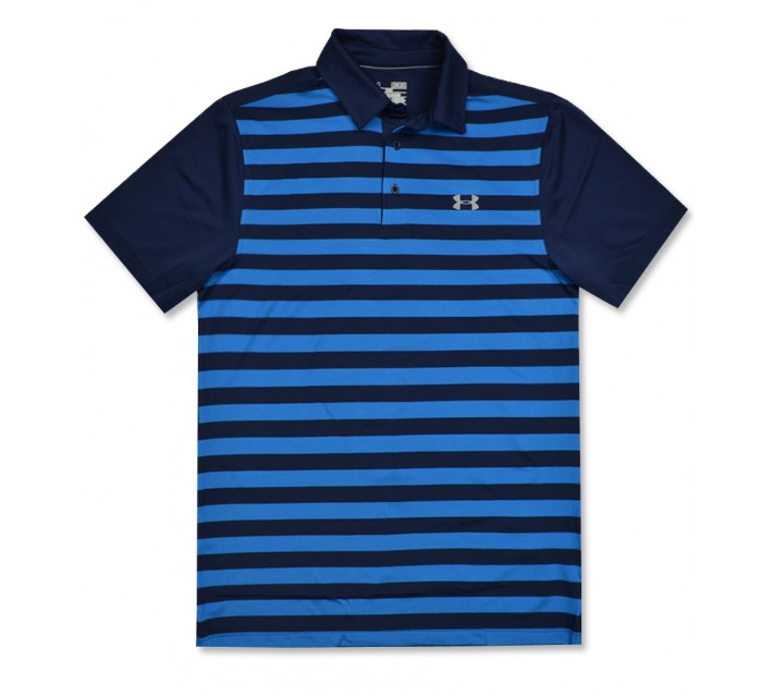 UNDER ARMOUR COLDBLACK TEMPO POLO ACADEMY/BRILLIANT BLUE - AW16