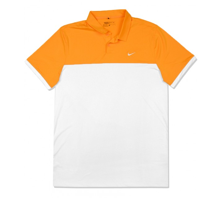 NIKE ICON COLOR BLOCK POLO VIVID ORANGE/WHITE - SS16 CLOSEOUT