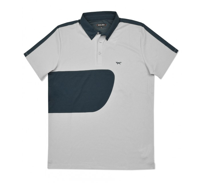 WOLSEY PABLO COLOR BLOCK POLO LIGHT GREY - SS16